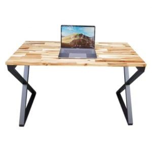 Bàn làm việc 120x60cm gỗ tràm hệ Wooden chân Xconcept lắp ráp HBWD022