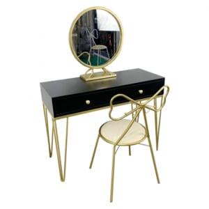 BTD68027 - Bộ bàn trang điểm PRINCESS chân màu đồng