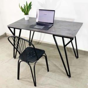 CB68072 - Combo bàn làm việc chân chữ Y và ghế sắt sơn tĩnh điện