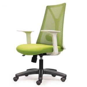 Ghế xoay văn phòng lưng lưới màu xanh HOM1087T-02