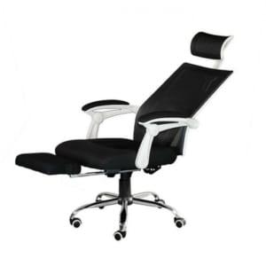 Ghế xoay văn phòng ngả nằm có gác chân viền trắng HOGVP038