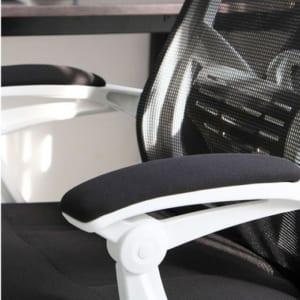 Ghế xoay văn phòng ngả nằm có tựa đầu viền trắng HOGVP037