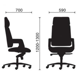 Ghế giám đốc cao cấp có tựa đầu Mayor-01 HOGVP040