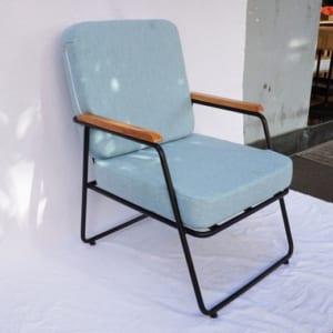 Ghế sofa đơn nệm xanh 62x70x75(cm) GSD68025