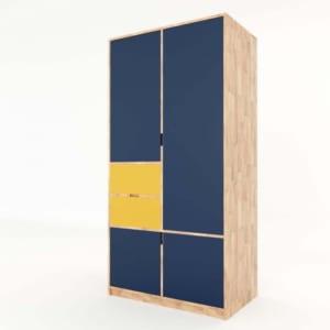 Tủ quần áo hiện đại gỗ cao su 2 hộc kéo TQA68013