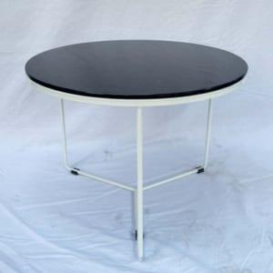 Bàn sofa mặt kính tròn 60cm chân sắt tia chớp TT68121